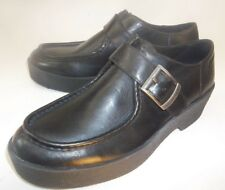 Vagabond Womens Boots Low Ankle EU 38 US 7 Black Leather Monk Strap Moc Toe