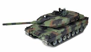 RC Panzer Leopard 2A6 1:16 Metallketten + Metallgetriebe IR/BB