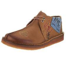 Clarks Desert Travel Trek Sz US 13 M Tan Burnished Leather Oxfords Mens Shoes
