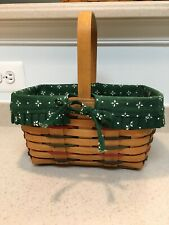 Longaberger Woven Traditions Spring Basket with Green Liner