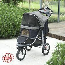 Luxury Folding Pet Stroller Dog/Cat Travel Carriage Wheel Adjustable Mesh Window