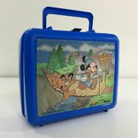 Mickey Mouse Vintage 80s Aladdin Swinging Bridge Plastic Lunchbox, No Thermos