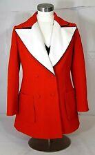Lilli Ann Paris San Fran 2-Pc. Women's 36 M 8-10 Red/White+ Blazer Jacket & Top