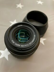 """almost mint"" Panasonic Lumix G 25mm f/1.4 Aspherical DG Lens"