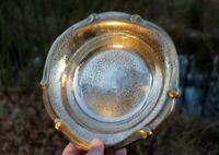 wertvolle antike WMF Schale versilbert Handarbeit gedengelt edles Sammlerstück