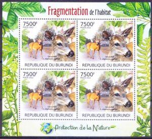 Key Deer, Endangered Animals protection, Burundi 2012 MNH SS
