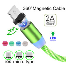 LED Light Up Fast Charging Cable USB Cord For iPhone Android Type C Micro USB
