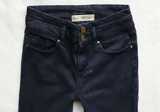 TOPSHOP Skinny KRISTEN high waisted navy blue stretch Jeans size 8 W26 L30