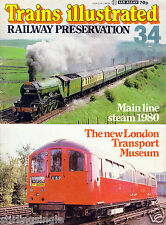 Trains Illustrated Magazine Ian Allan No.#34 Rail Preservation FAIR Condition