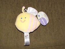 BABIES R US STUFFED PLUSH YELLOW PINK BUMBLEBEE BUMBLE BEE RATTLE TOY LOVEY NEW