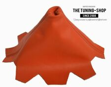 Gear stick Polaina Para VW Multivan T5 2003-2010 naranja de cuero