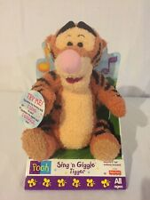 Vintage Winnie The Pooh Sing N Giggle Tigger 1998 Disney Plush Fisher Price NEW!