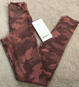 """NWT Lululemon Size 4 Align HR Pant 28"""" Tight CBRR Pink Camo"""