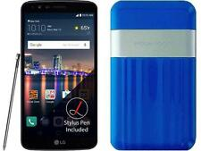Boost Mobile LG Stylo 3 with Powerocks Cirrus Power Bank Blue