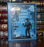 Twenty Thousand Leagues Under Sea by Jules Verne New Sealed Leather Bound 1st