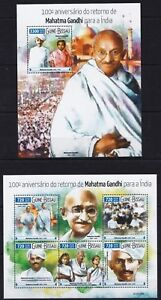 Guinea-Bissau 2015 Mahatma Gandhi Humanist India postage stamps MNH** 2F