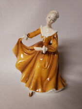 New ListingRoyal Doulton 1970 Kristy Figurine Gold Yellow Dress Dancing Hn 2381