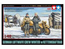 Tamiya 1/48 German Luftwaffe Crew (Winter) with Kettenkraftrad # 32412 ##