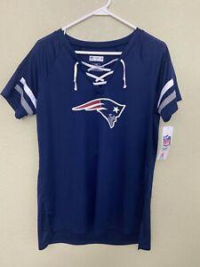 NFL Team Apparel New England Patriots #12 Tom Brady V-Neck T-Shirt Womens NWT