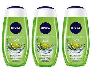 3 x NIVEA Lemongrass & Oil Pearls Shower Gel 250ml