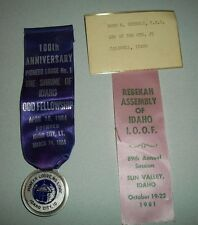 Antique IDAHO-100 Anniversary Idaho City 1964 & 89th Anniv Sun Valley 1981 IOOF