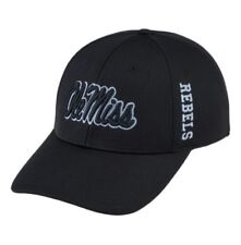 best website 8bfa5 e4d75 Mississippi (Ole Miss) Top of the World Booster Plus Fitted Cap Hat (Size