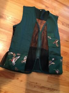 Mens Hunting Outdoor Duck Canvas Mesh Vest Men's Size XL Duck Quilted Recoil