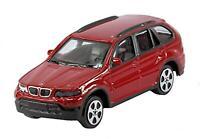 Burago 1/43 Diecast Model Car - Burago 'Street Fire' Range - BMW X5 4x4 in Red