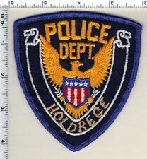Holdrege Police (Nebraska) Uniform Take-Off Shoulder Patch from 1989