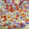 400 Mix Colour Alphabet Heart Shape Letter Beads 6.5mm Jewellery Making Beads