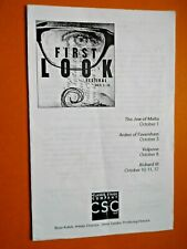Oct. 8 - 2003- Classic Stage Company Theater Program - Volpone - Herb Foster