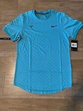 Men's Nike NikeCourt AeroReact Rafa Tennis Shirt Hyper Jade At4182-317 Size S