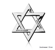 B165 Hexagramm  Star of David Auto 3D Emblem Badge Aufkleber emblema Car Sticker