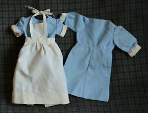 "Vintage Nurse Doll Dresses, 14"" doll and larger"