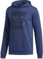 New Mens Adidas Originals Hoodie Hooded Top Sweatshirt Jumper Hoody Sweater Blue