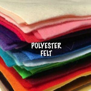 Polyester Felt Sheet 25cm x 30cm - EN71 certified soft toy doll making plushies