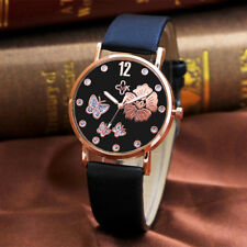Womens Fashion Digital Dial Faux Leather Band Quartz Analog Wrist Watch Watches