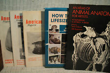 lot HOW TO MOUNT LIFESIZE ANIMALS vtg American Taxidermist atlas Animal Anatomy