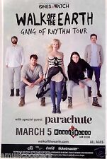 "WALK OFF THE EARTH/PARACHUTE ""GANG OF RHYTHM TOUR"" 2014 SAN DIEGO CONCERT POSTER"