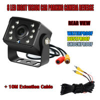 8LED Car Frontview Night Vision Reversing IR Camera with 10M RCA Extention Cable