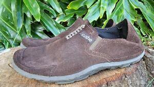 Cushe Surf Slipper Shoes Dark Brown Suede slip on Mens Size 10
