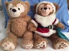 Disney Pre Duffy Mickey bear -Lot Of Two , Christmas And Light Brown -RARE
