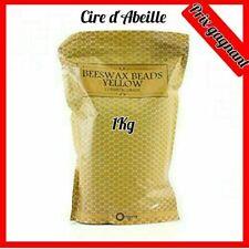Perles de cire d'abeille non raffinées 1 kg Pure Naturelle Bougie Soins Peau