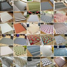 More details for small-extra large flatweave indoor / outdoor patio conservatory modern rugs mats