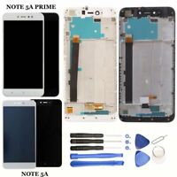 Pantalla para Xiaomi Redmi Note 5A / 5A PRIME CON MARCO LCD Tactil Negra Blanca