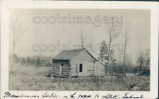 1933 Press Photo Mountain Log Cabin 1930s Marshall County Alabama Near Grant