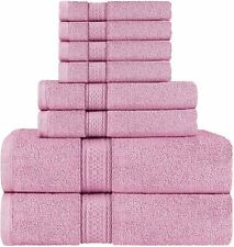 8 Piece Towel Set includes Bath Towel Hand Towel Washcloth Utopia Towels