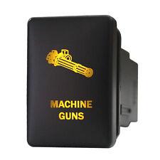 12V Push switch 9B89O MACHINE GUNS LED amber for Toyota Tacoma 4Runner Tundra