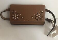 NWT!!Michael Kors 3-D Flower Garden Fanny Pack Pebble Leather Belt Bag Small