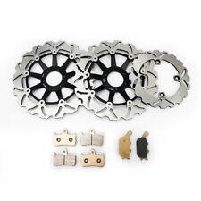 Front Rear Brake Rotors Discs Pads For Honda CBR900RR 1994-1997 VTR 1000F 97-07